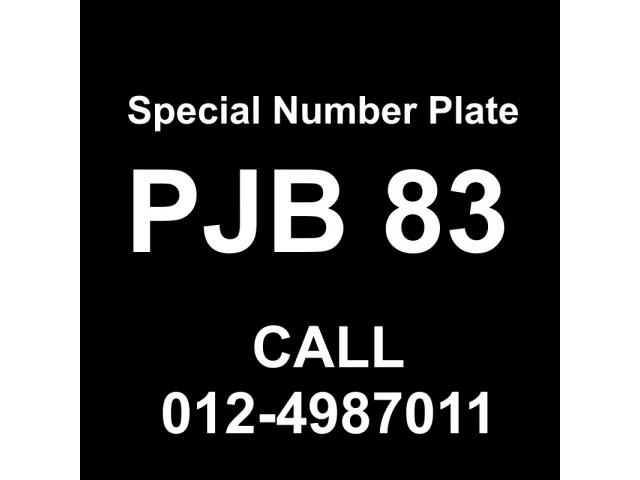 Special Number Plate For Sale - PJB83