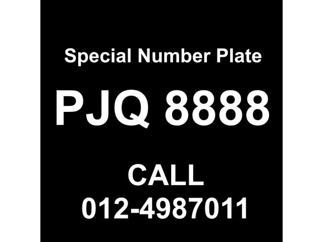 Special Number Plate For Sale - PJQ8888