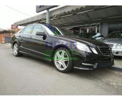 2012 MERCEDES-BENZ E250 CGI DISTRONIC UNREGISTER