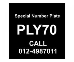 Special Number Plate For Sale - PLY70