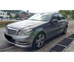 2012 MERCEDES-BENZ C180 - LOCAL - 4 YEARS WARRANTY